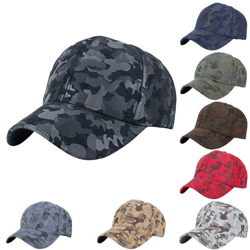 Baseball Cap Women Men 2018 New Brand Summer Camouflage Snapback Hat Hippie Hip-Hop Adjustable Casual Hat Fall Wholesale #FM27