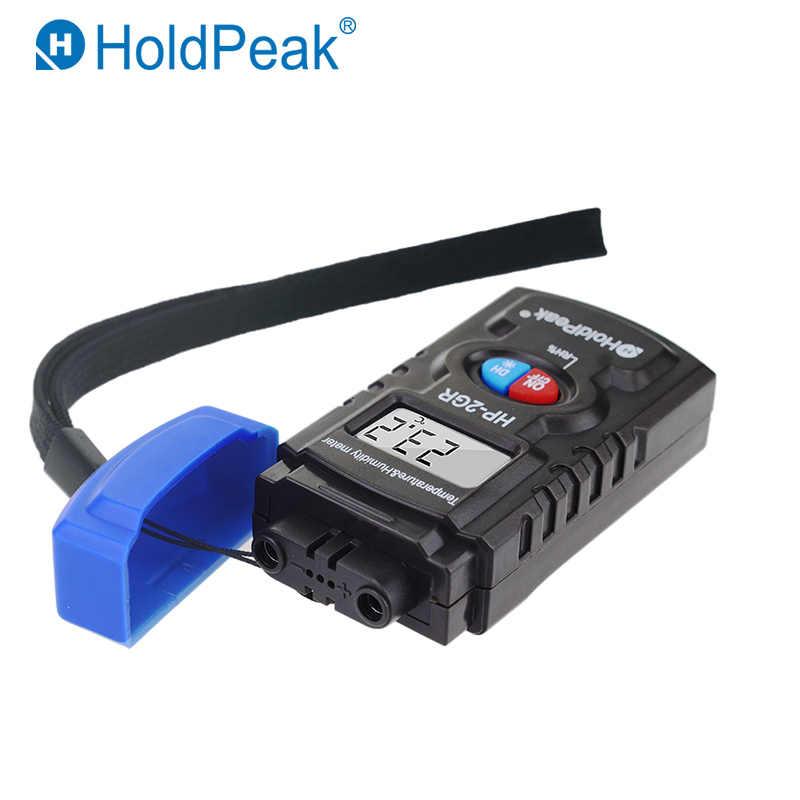 Suhu dan Kelembaban Meter Moisture Meter Sensor Mini Data Logger Digital Thermometer Higrometer Air Holdpeak HP-2GR