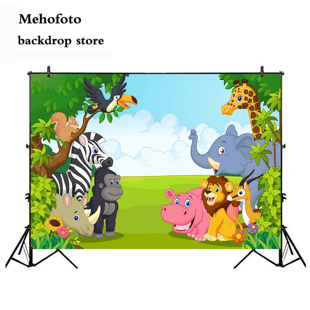 aliexpress com buy mehofoto jungle birthday party backdrop safari