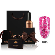 Gelike Diamond Gel Nail Super Shining UV Polish 15ml Glitter Sequins Platinum Glaze Set
