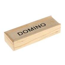 Domino Set Black Wooden