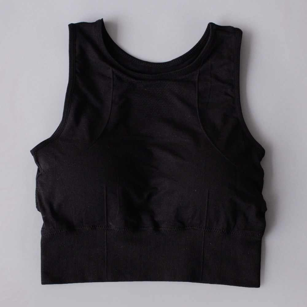6f52e9a35f ... HTLD Wire Free Fitness Tank Tops Women Crop Tops Quick Dry Vests Gothic  Cropped Shockproof Bralette ...