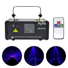 AUCD Mini Draagbare 8 CH DMX 150mW Blauwe Laser Scanner Effect Podium Verlichting Disco DJ Party Club Show LED projector Verlichting DM B150