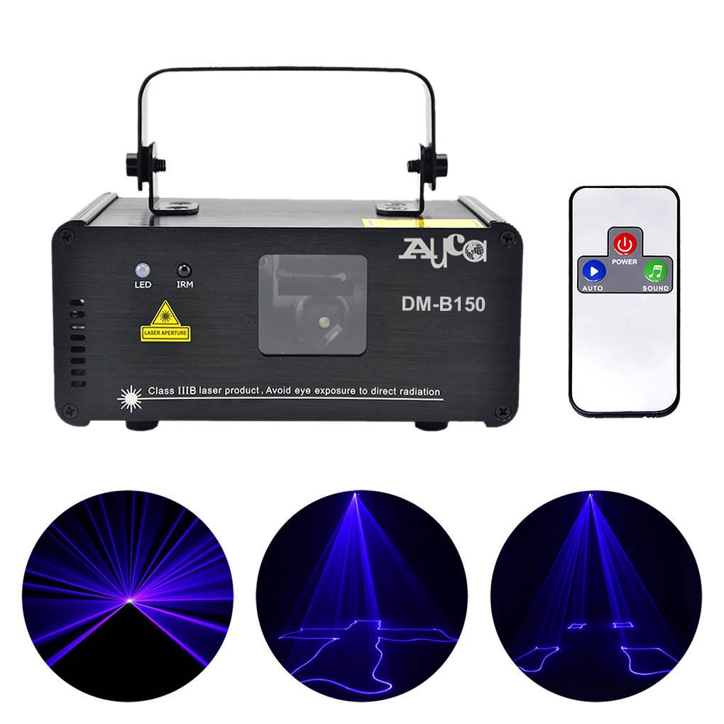 AUCD Mini Portable 8 CH DMX 150mW Blue Laser Scanner Effect Stage Lights Disco DJ Party Club Show LE