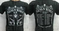 Guns N Roses Rock Printing Men S T Shirts Letter Short Sleeve Cotton Black Two Side