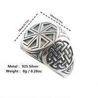Size 6 To Size 13 Unisex Cool 925 Silver Vikings Slavic Amulet Ring