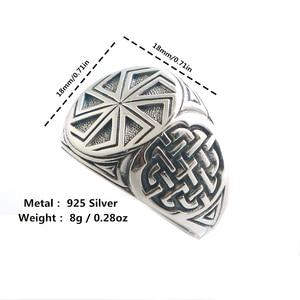 Image 1 - Taille 6 à taille 14 unisexe Cool 925 argent Vikings slave roue amulette anneau
