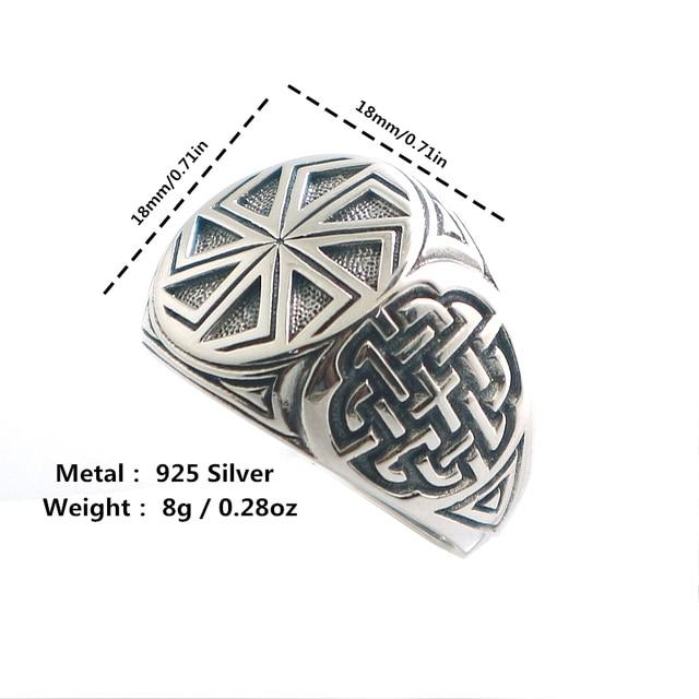 Taille 6 à taille 14 unisexe Cool 925 argent Vikings slave roue amulette anneau