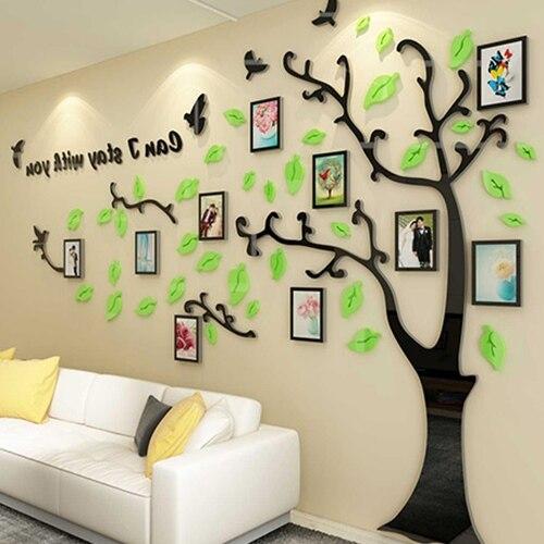 Creativo grande albero, acrilico 3D autoadesivo della parete, divano del soggiorno, sfondo, decorazione della parete, photo frame, wall sticker - 2