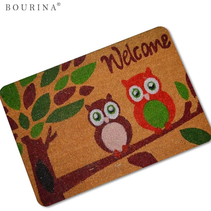 Bourina Modern Mat Rug Doormat Cartoon Owl Home Carpets Floor Door/Bathroom/Car/Kid Room Cartoon/Kitchen Tapete Alfombra X0116