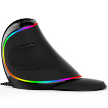 Delux M618 Plus Wired/Wireless Ergonomic Vertical Mouse Computer Gaming Mouse Optical Computer Mice RGB light