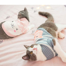 Kitten Costume Sweater for Cats Christmas Clothes Clothing for Pets Princess Sweet Pet Clothes Cat Coat Costume 50MYF022(China)