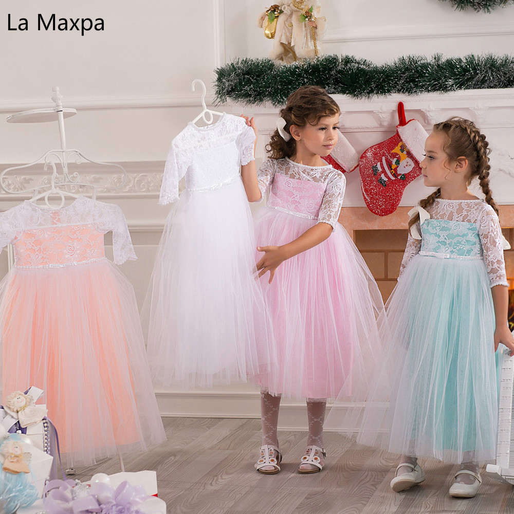 New Fashion Children Candy Color Dance Paino Show Clothing Flower Girls Lace Hollow Out Dress Birthday Graduation Party Dresses dance legend red show 05 цвет 05