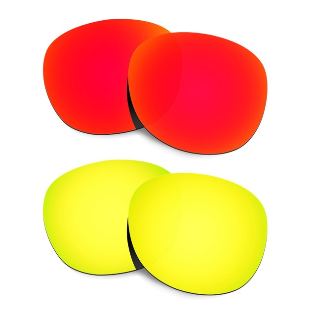 87fdfdf72ff0d 2 Pairs HKUCO For Latch Sunglasses Polarized Replacement Lenses Red   24K  Gold Increase Clarity