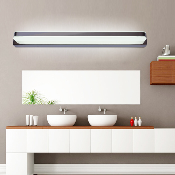 Aliexpress com   Buy 45CM bathroom mirror wall light LED Modern Acrylic Wall Lamp Bathroom Mirror Light Stainless Wall Light Factory 110V 220V from Reliable. Aliexpress com   Buy 45CM bathroom mirror wall light LED Modern