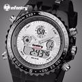 INFANTRY Sports Watches Men Original LED Display Digital Stopwatch Relogio Masculino Waterproof Luminous Wristwatch Alarm Clocks
