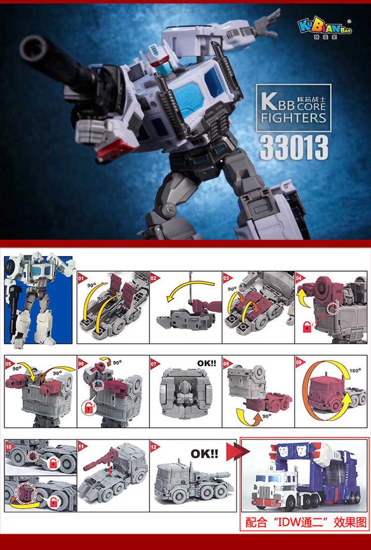 Comic Club KBB трансформация G1 ультра Магнус белый Commander OP PC-17 IDW Core warrior фигурка Робот Игрушки