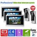 Homefong 7 Inch  Video Doorphone Doorbell Intercom System Waterproof Door Access Control Ring Video Doorbell  2V3