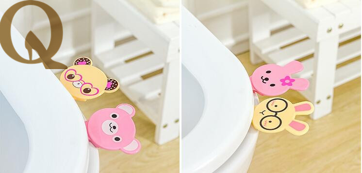 Cartoon Cover Lifter Toilet Seat Handle Bathroom Lid Cover