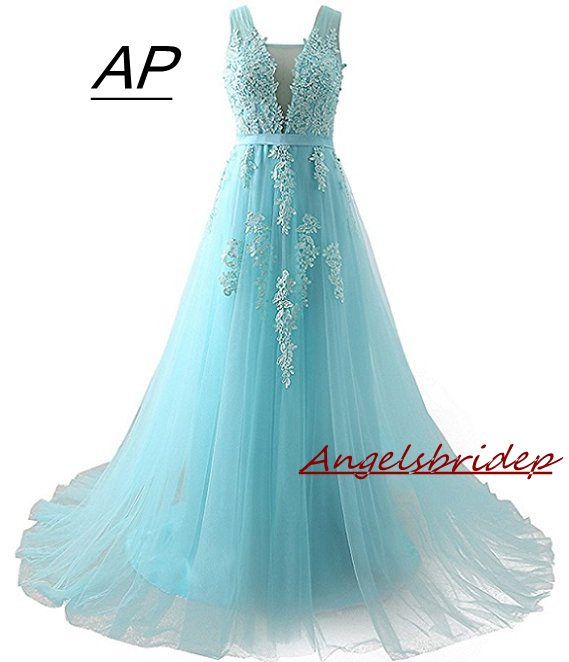 3c08c8649c4 ANGELSBRIDEP Quinceanera Dress 2019 New Sexy V-neck Charming Appliques  Full-length Ball Gown