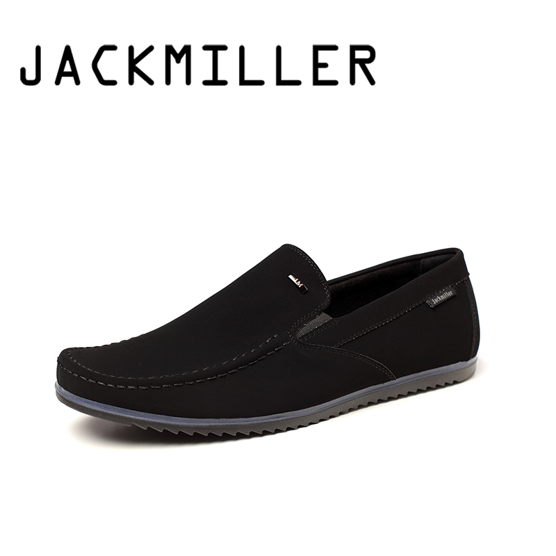 Jackmiller Top Brand New Arrival Spring Autumn Men Casual Shoes Comfortable Slip On Loafers Men Black