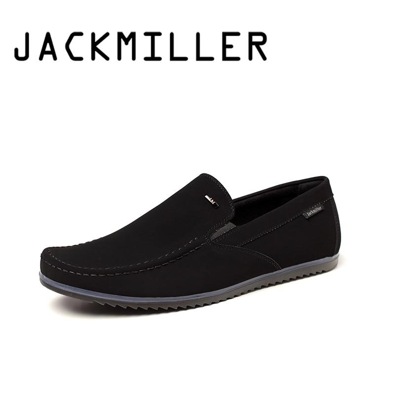 Jackmiller mężczyźni buty w stylu casual wiosna jesień wygodne slip on męskie mokasyny czarne mieszkania modne buty rekreacyjne człowiek nosić odporne na działanie w Męskie nieformalne buty od Buty na AliExpress - 11.11_Double 11Singles' Day 1