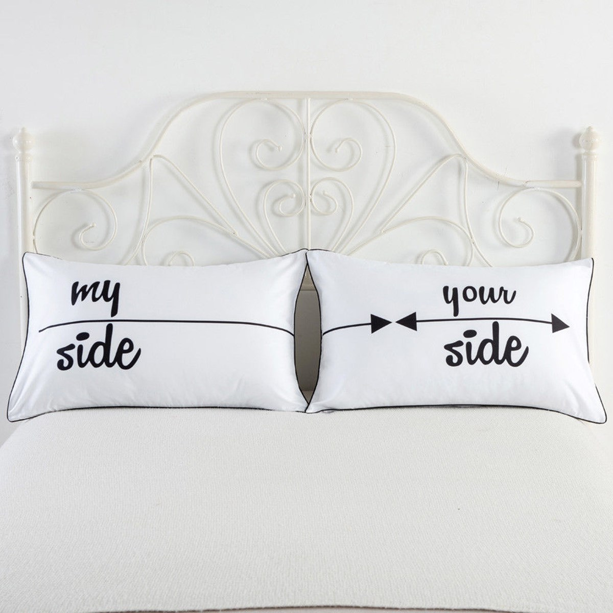 online get cheap couple pillow bedding aliexpresscom  alibaba group - white letters pillow cases pcs xcm couples pillow cases cushionrectangle home textiles bedding accessories(