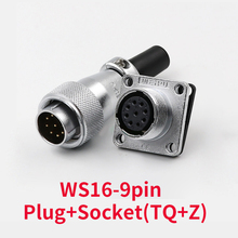 1set 9 pin Waterproof WS16 Connector Male + Female High Voltage Connectors Plug Socket Industrial Power Aviation