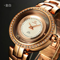 Watch Women Vinoce brand luxury Fashion Casual quartz Unique Stylish Hollow skeleton watch Steel rotating 100m waterproof watch