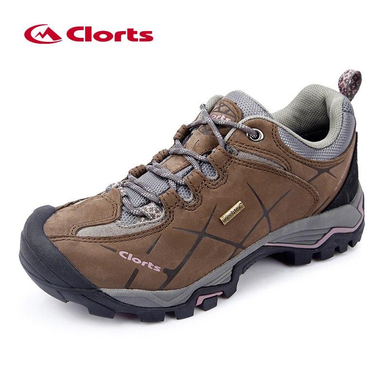 Clorts Bas Randonnée Chaussures Femmes Chaussures de Plein Air Étanche Nubuck Chaussures de Montagne En Cuir Dame Escalade Chaussures HKL-805C