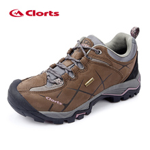 Clorts Low Hiking Shoes Women Outdoor Shoes Waterproof Nubuck Leather Mountain Shoes Lady Climbing Shoes HKL-805C