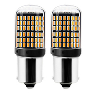 WTS wholesale 50pcs 1156 7440 T20 Car amber Turning Ligh 144 SMD 3014 Auto canbus Tail Reverse Bulb Signal Lamp 12V DRL Lights