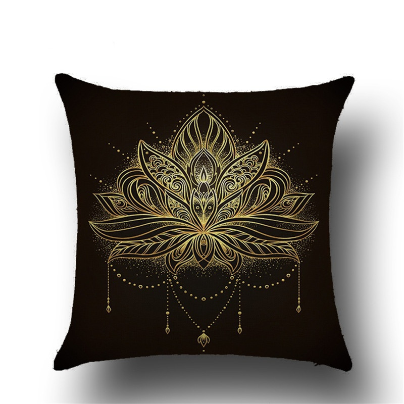 Indian Mandala Elephant Printing Animal Pattern Cushion Cover Home Decorative for Sofa Throw Pillow Cover Pillow Case