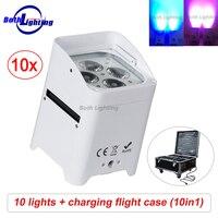 Wifi &Remote uplighting SMART DJ 4x18w RGBWA UV 6in1 Battery Operate wireless dmx LED Uplight for Wedding