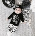 Fall 2016 INS hot style thick line children suit foreign trade children's clothing letters  baby boy and girl  two-piece outfit