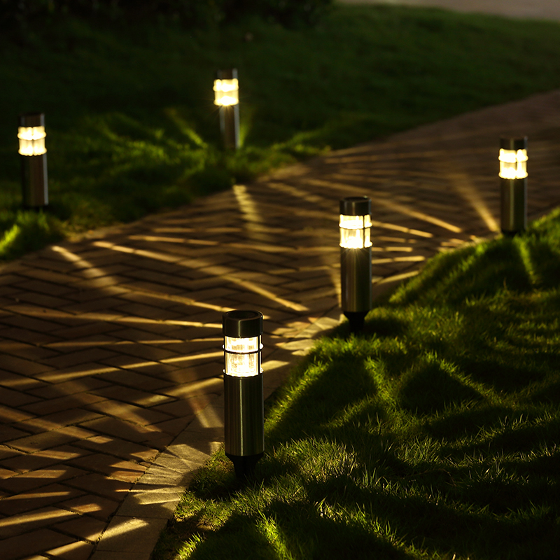 Stainless Steel Outdoor Led Solar Light For Garden Decoration Pathway Waterproof LED Solar
