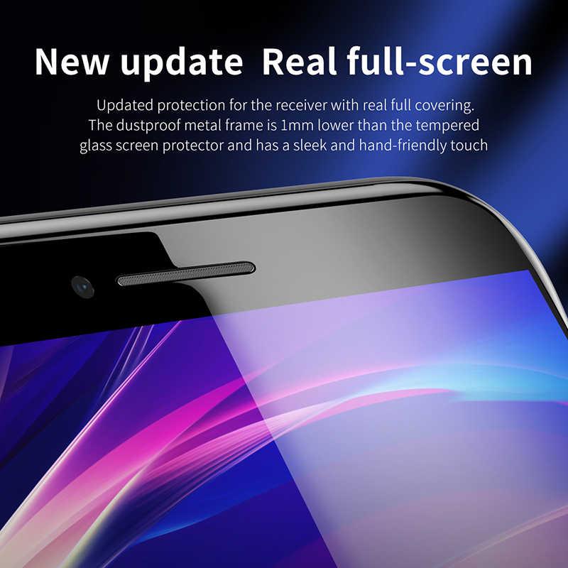 Baseus 0.3 مللي متر رقيقة زجاج واقي آيفون 7 8 6 6s واقي للشاشة 9H تغطية كاملة الزجاج المقسى آيفون X XS MAX