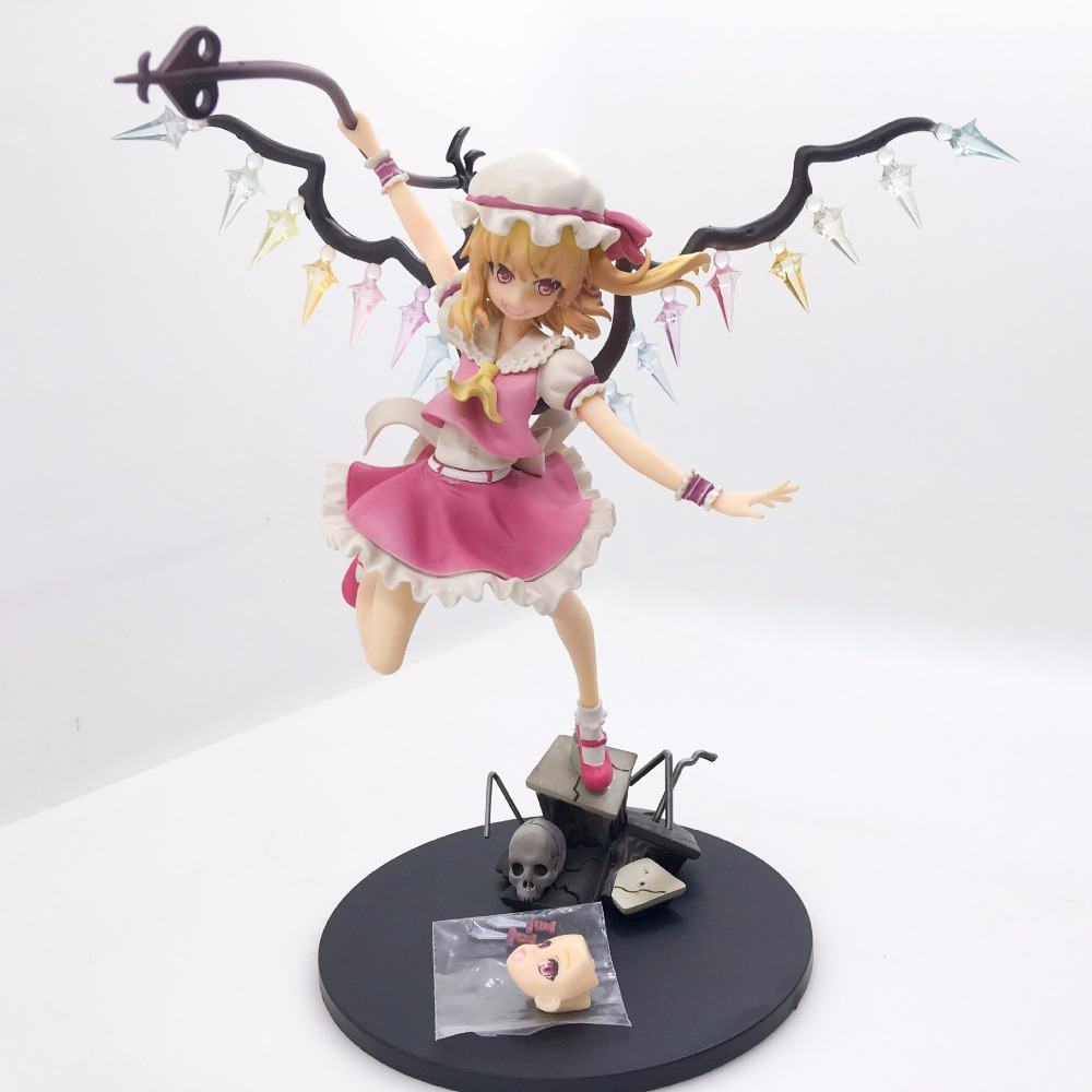 TouHou Project Action Figure Flandre Scarlet PVC Anime TouHou Project 230mm Collectible Model Toy Flandre Scarlet Toys free shipping 10 touhou project anime sister of the devil flandre scarlet boxed 24cm pvc action figure collection model doll