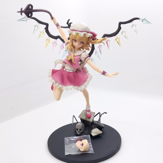 TouHou Project Action Figure Flandre Scarlet PVC Anime TouHou Project 230mm Collectible Model Toy Flandre Scarlet Toys