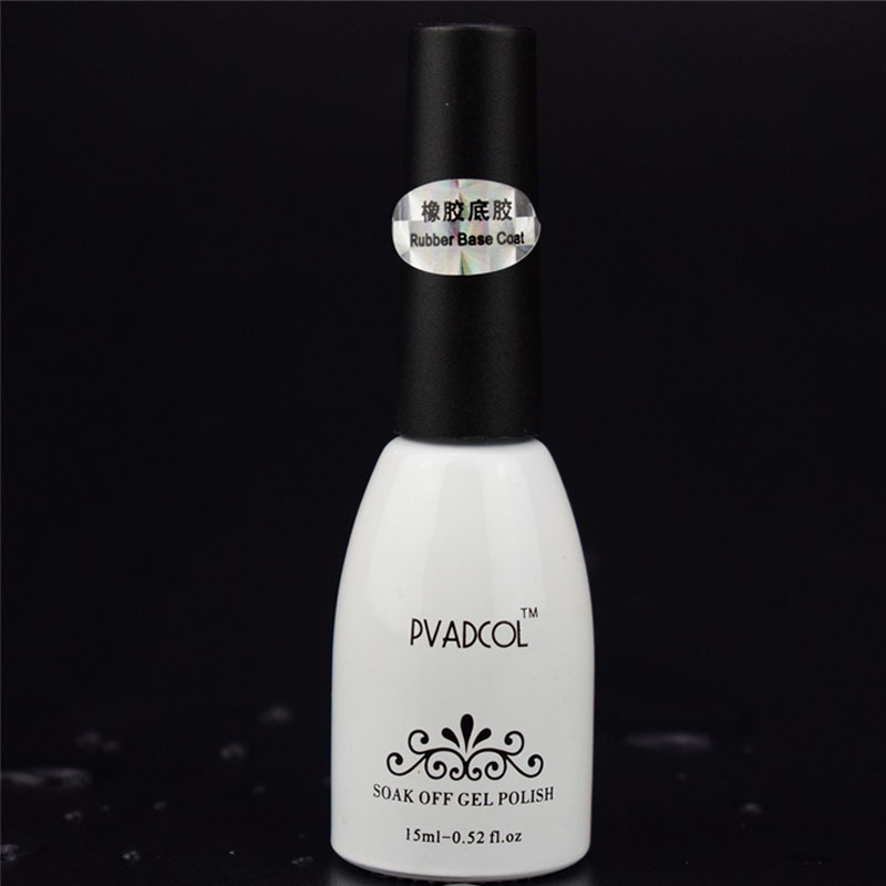 PVADCOL Rubber Base Coat Soak off UV/LED Nail Gel Polish 15ml Manicure Salon