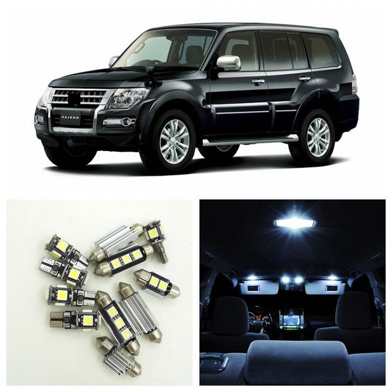 16pcs White LED Light Car Bulbs Interior Package Kit For 1999-2006 Mitsubishi Montero V60 Pajero Map Dome Trunk Door Lamp  Mitsubishi Pajero
