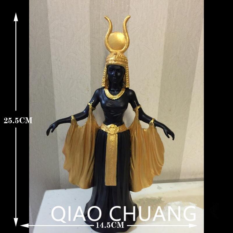 Sample House Refinement Egypt Goddess Wing Sun Goddess Resin Art Craft Living Room Furnishing Articles G1303