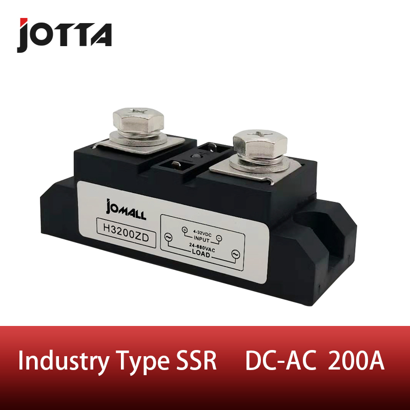 SSR-200A Industrial SSR Single-phase Solid State Relay 200A Input 3-32VDC;Output 440AC samsung
