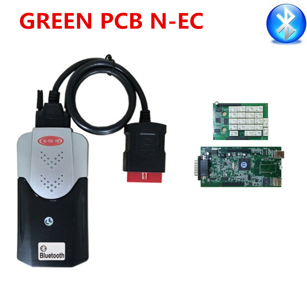 8pcs DHL free 2015.R3 Keygen on CD New vci Full VD TCS cdp pro plus with bluetooth SCANNER with LED 3 IN1 + Nec Relay V8.0 PCB