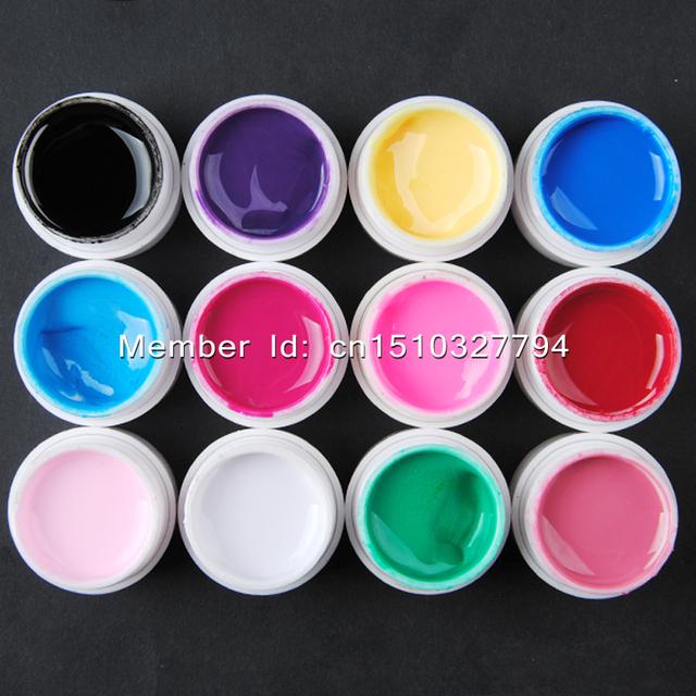 Pro Nail Art Kit UV GEL Pink Lamp Nail Dryer 12 Color UV Gel Pure Solid Gel Polishes Vanishes for Manicure Salon Tools Kit Sets