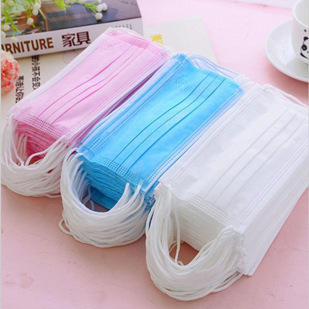 10pcs Disposable Masks Anti Dust 3 Layer Fabric Expressions Using Protects Person Useful Mouth Cover Masks In Stock