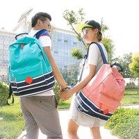 2016 Preppy School Bags Backpack For Girls Teenagers Cute Canvas Striped Printing Women Men Backpack Bag