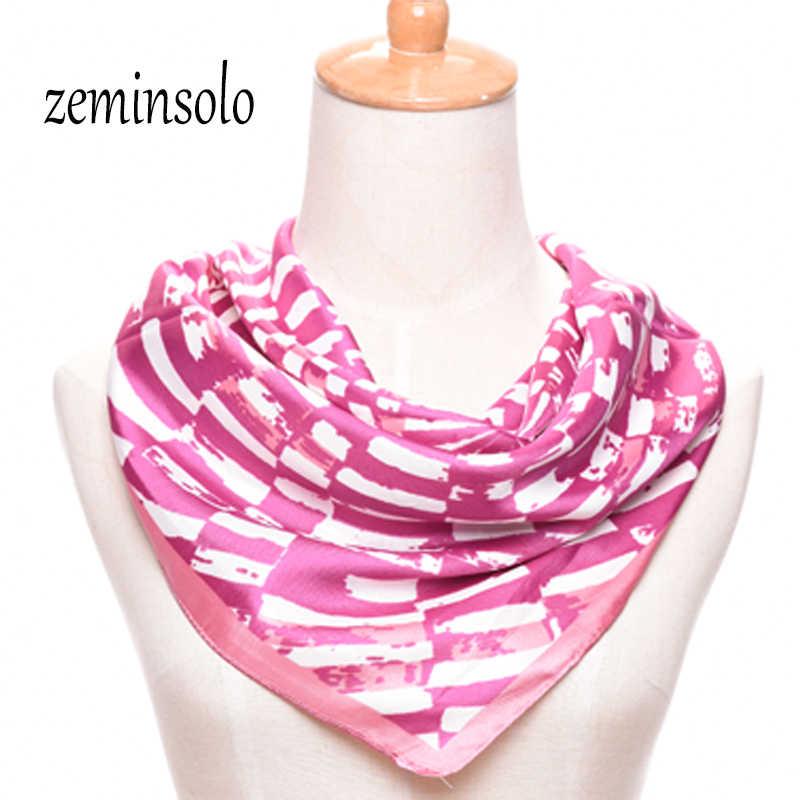 Новый 60*60 см Модный шарф для женщин обертывание плед квадратный имитированный шелковый шарф шаль шифон женские шарфы хиджаб высокое качество обертывание s