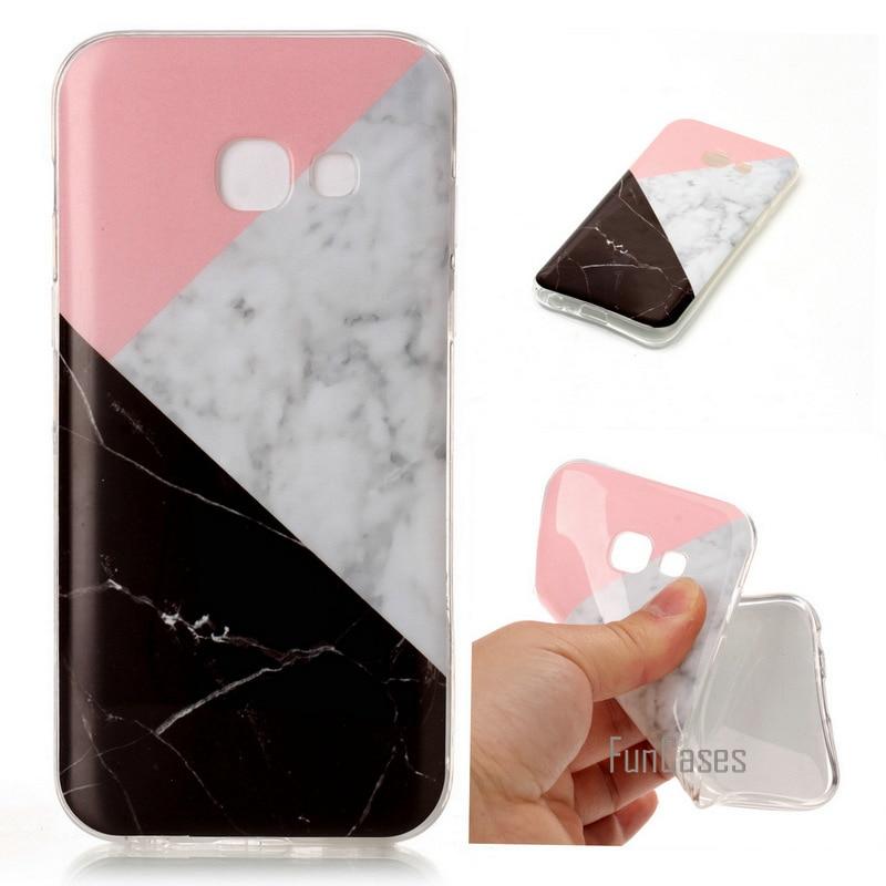 Pour Samsung A5 2017 Soft Case TPU Silicone cas Marbre peinture Retour Gel De Couverture Cas Pour Samsung Galaxy A5 2017 A520