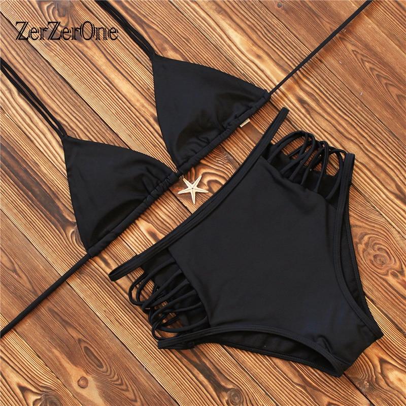 Bikinis 2017 Sexy Swimsuit Female Summer Bandage Swimwear Women Brazilian Bikini Set Hight Waist Beach Bathing Suit Swim Biquini brazilian sexy bikini swimsuit plus size swimwear for fat women bikinis set bathing suit female beach suit big breasts biquini